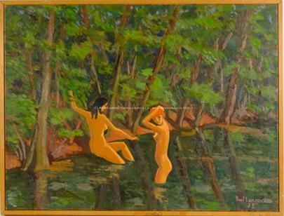 Paul Lancoux - Koupající se dívky