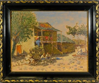 O. Forejt - Odpoledne u domu - Motiv z Orientu