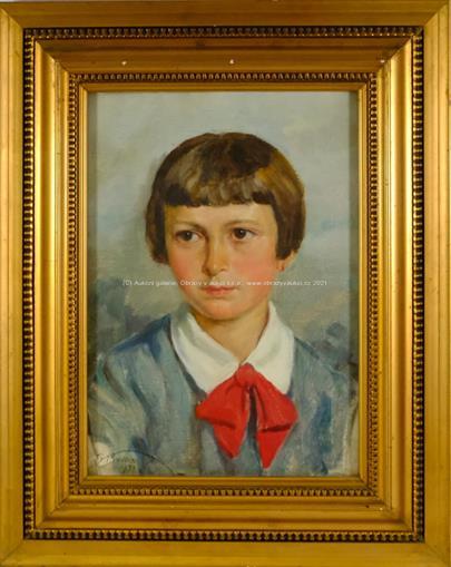 Josef Prokop - Podobizna dívky s rudou mašlí