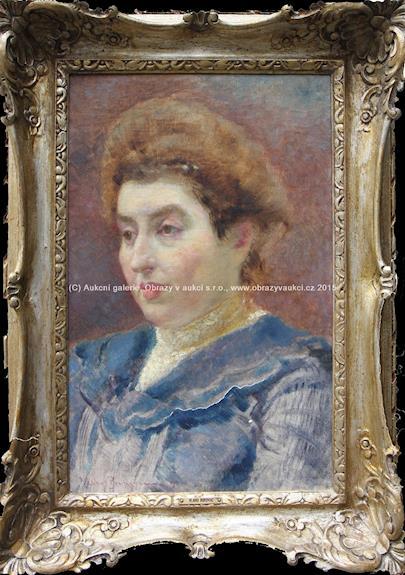 Vlaho Bukovac - Portrét ženy