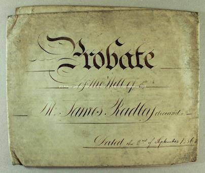 . - Poslední vůle z r. 1836