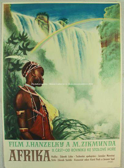 Hanzelka, Zikmund - Plakát Afrika - od rovníku ke Stolové hoře