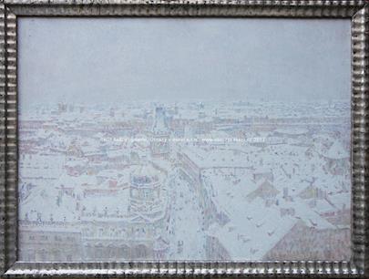 Josef Ullmann - Pohled na Prahu v zimě